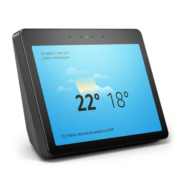 Amazon Echo Show 2nd Gen Smart Home Hub in Black