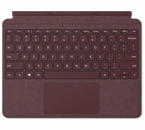 Surface Go Keyboard, burgundy Hero Image