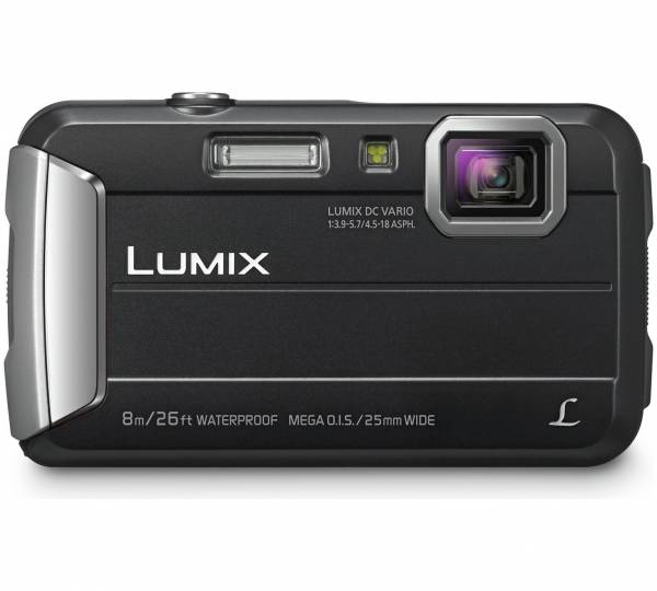 Panasonic DMC-FT30 Waterproof 16MP Compact Camera in Black Front View