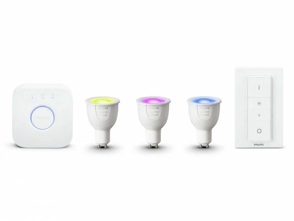 Philips Hue White & Colour Ambience GU10 Starter Kit front view