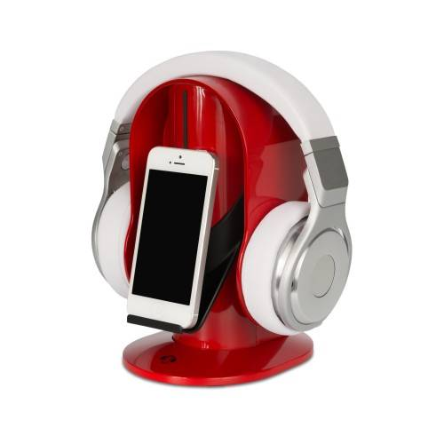 Heads-Up Base Stand For Headphones in Red