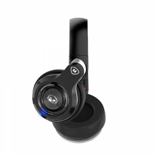 Monster Elements Over-Ear Wireless Headphones in Black and Slate