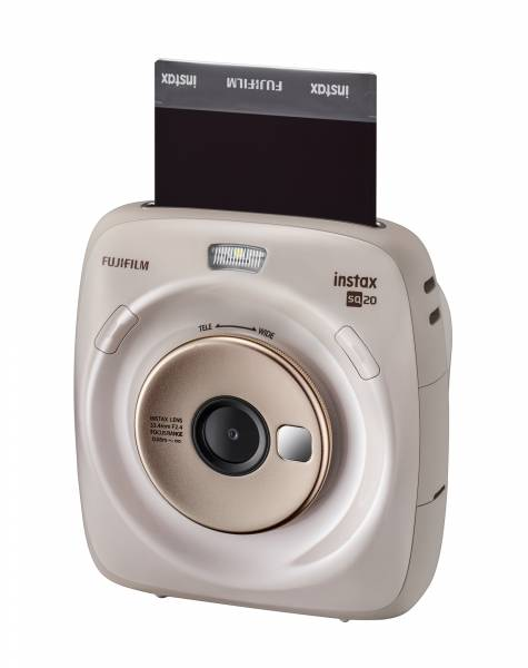 Fujifilm Instax Square SQ20 Black Camera Hero Image