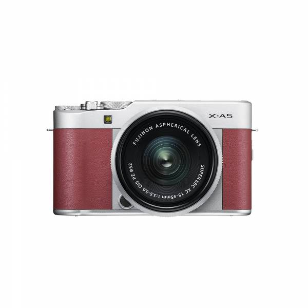Fujifilm X-A5 Mirrorless Camera in Pink with XC15-45mm PZ Lens