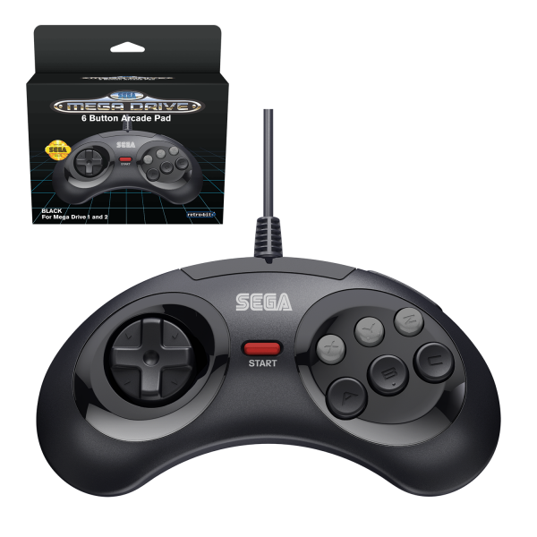 SEGA Mega Drive USB 6-Button Controller in Black