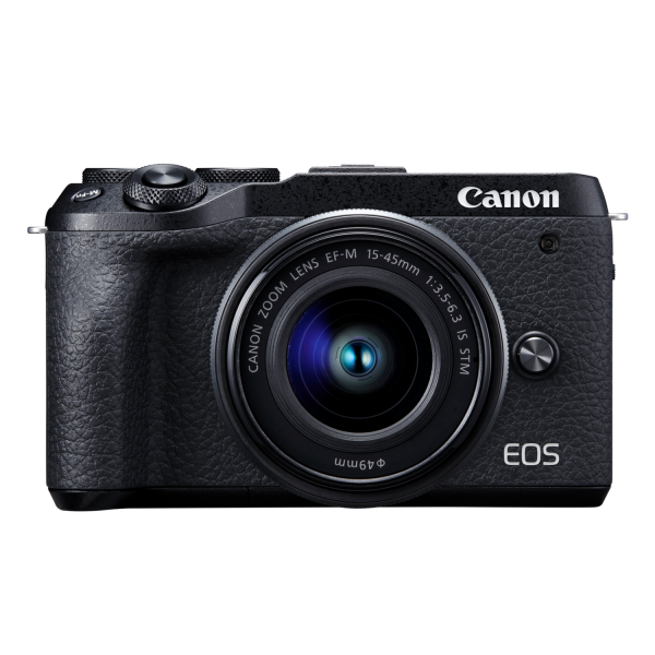 Canon EOS M6 Mark II DSLR Camera with EF-M 15-45 mm IS STM Lens