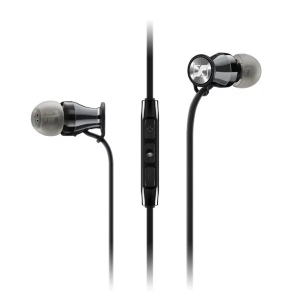 Sennheiser Momentum In-Ear in Chrome Black for IOS  ear buds and remote view