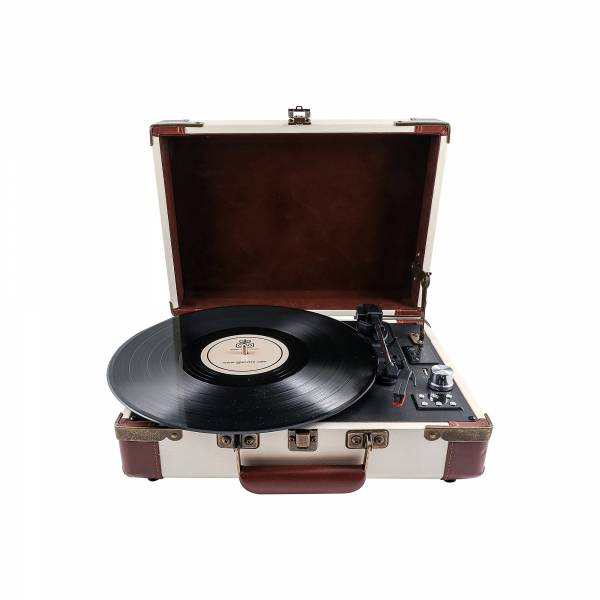 GPO Ambasssador Uusb/ Bluetooth Turntable in Cream and Tan