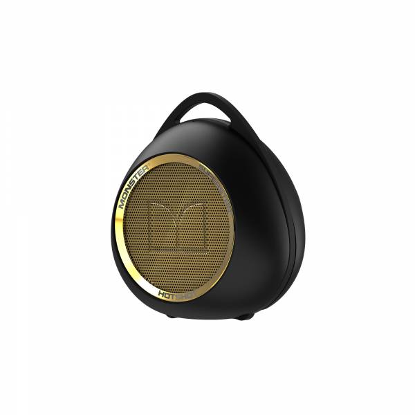 SuperStar™ HotShot™ Portable Bluetooth Speaker in Black and Gold (129289) left side view