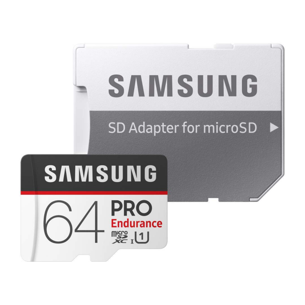 Samsung PRO Endurance 64GB MicroSDHC Memory Card with SD Adapter