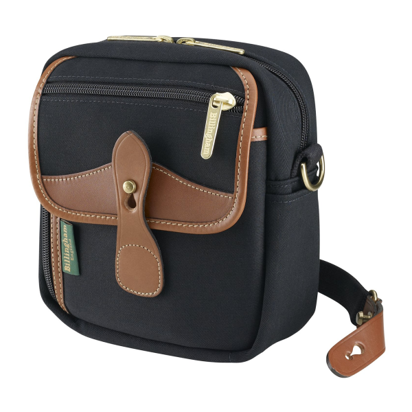 Billingham Pola Stowaway Camera Bag in Black Canvas / Tan Leather