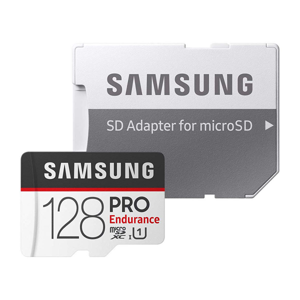 Samsung PRO Endurance 128GB MicroSDHC Memory Card with SD Adapter