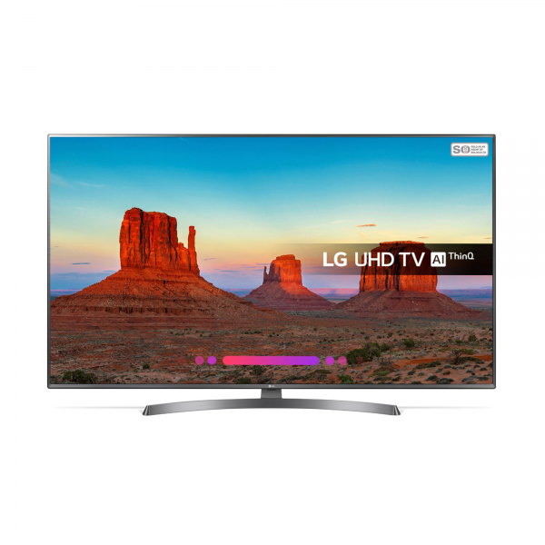 LG 43UK6750P TV - Front View TV On