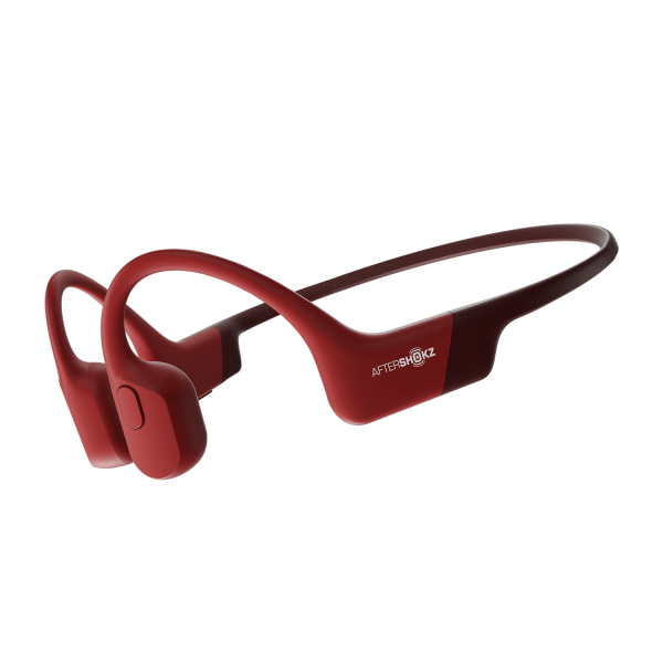 AfterShokz Aeropex Bone Conduction Wireless Headphones in Solar Red
