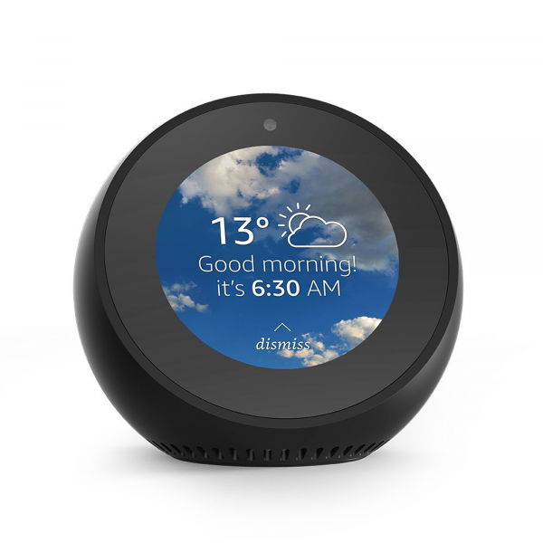 Amazon Echo Spot Smart Speaker black front view