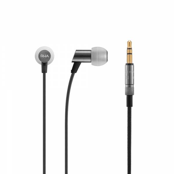RHA S500 Ultra-compact, noise isolating aluminium in-ear headphone Without Mic earphones and connector view