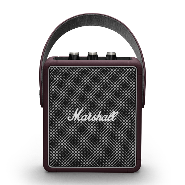 Marshall Stockwell II Portable Bluetooth Speaker in Burgundy