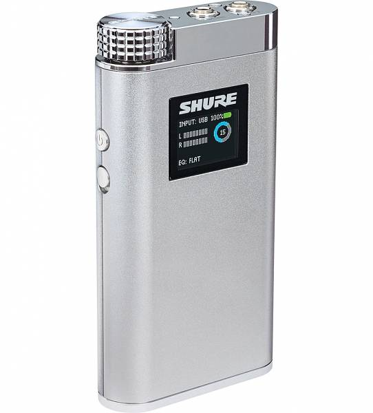 Shure SHA900 Portable Headphone Amplifier left tilted