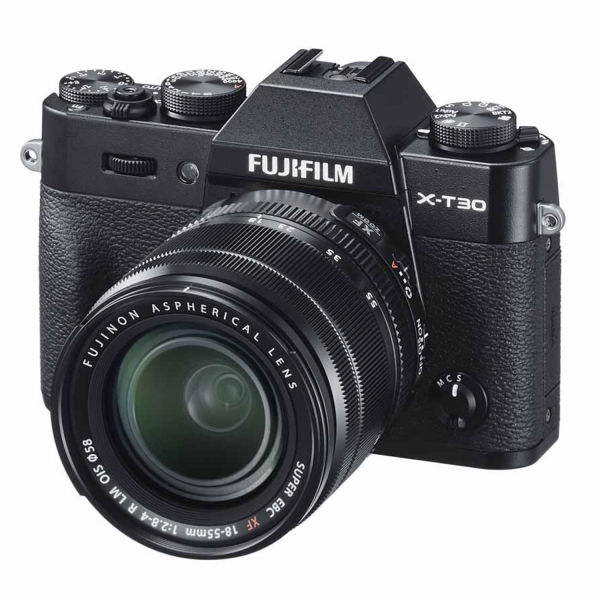 Fujifilm X-T30 Mirrorless Camera in Black with XF18-55mm Lens