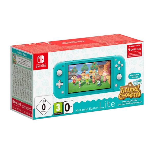 Nintendo Switch Lite Animal Crossing Bundle in Turquoise