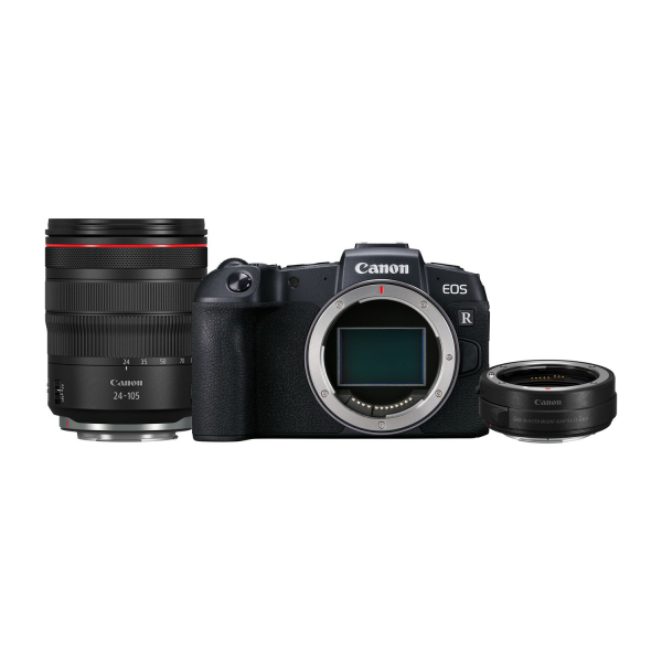 Canon EOS RP Mirrorless Camera with RF Mount Adapter and 24-105mm f/4L IS USM lens