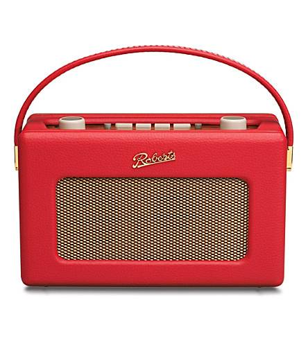 Roberts Revival RD60 DAB FM Radio in Red portable wireless audio front facing