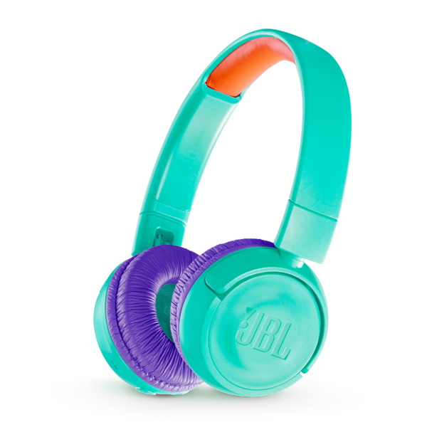 JBL JR300BT headphones teal side view