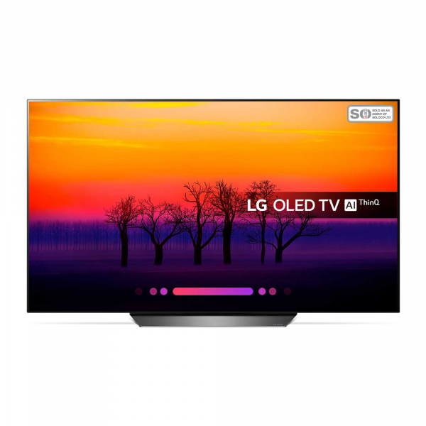 LG OLED55B8S - Front View TV On