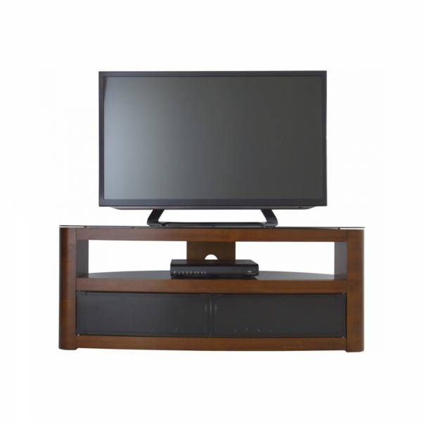 AVF Affinity FS1250 - Burghley Curved TV Stand in Walnut