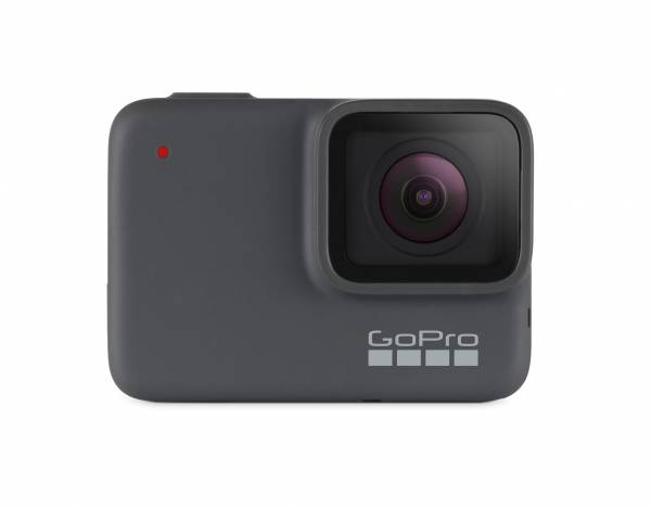 GoPro Hero 7 in Silver front view