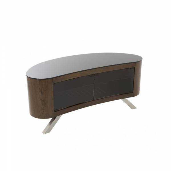 AVF FS1150: Affinity Bay Curved TV Stand in Walnut