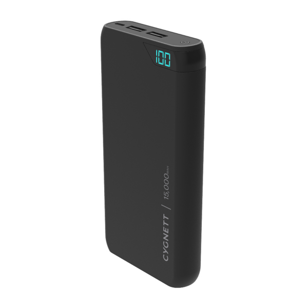 Cygnett ChargeUp Boost 15K Portable USB Power Bank in Black