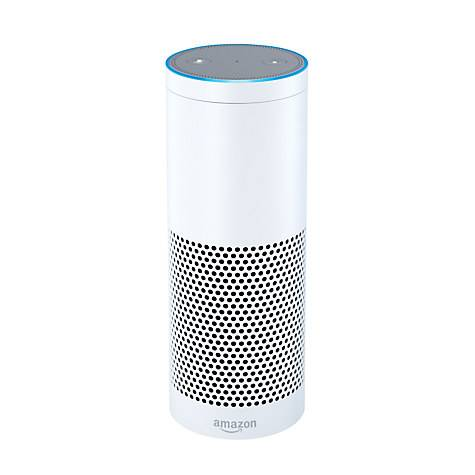 Amazon Echo Smart Speaker with Voice Recognition & Control in White