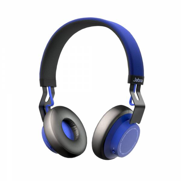 Jabra Move Wireless On-Ear Headphones in Blue tilted side