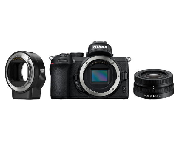 Nikon Z50 Mirrorless Camera with DX 16-50mm VR & FTZ Mount Adapter