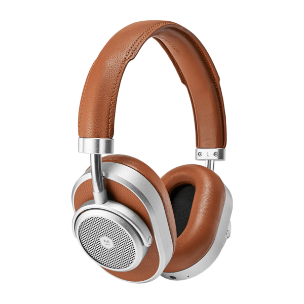 Master & Dynamic MW65 Noise-Cancelling Wireless Headphones in Silver Brown