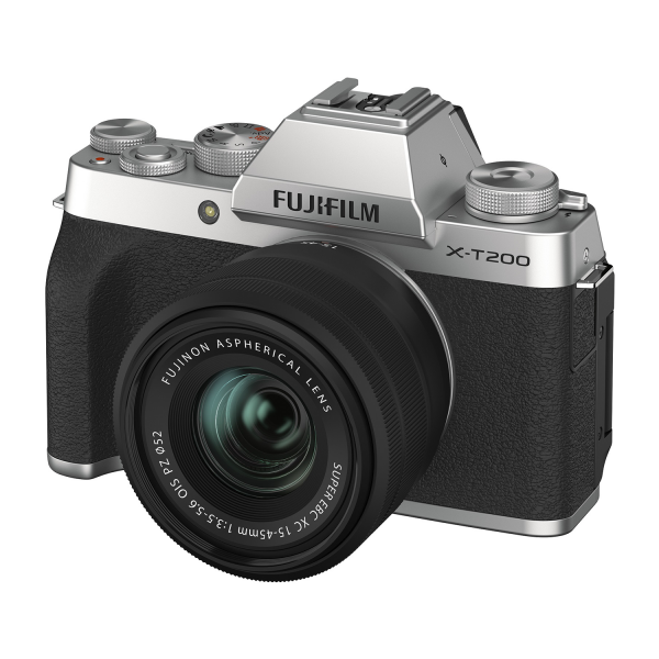 Fujifilm X-T200 Mirrorless Camera Kit in Silver