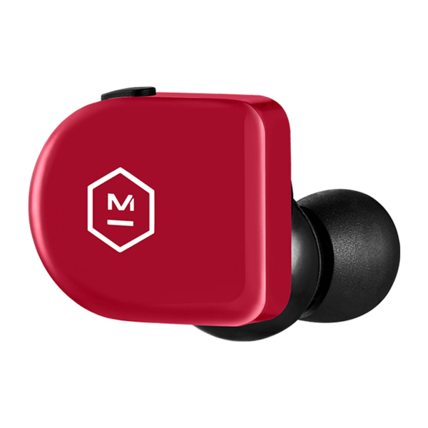 Master & Dynamic MW07 GO True Wireless Earphones in Frame Red