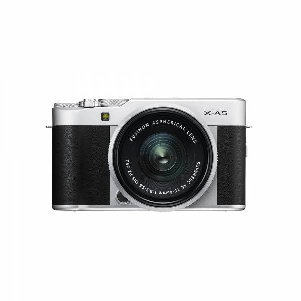 Fujifilm X-A5 Mirrorless Camera in Silver with XC15-45mm PZ Lens