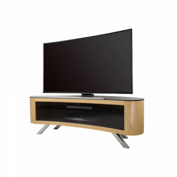 AVF FS1500: Affinity Bay Curved TV Stand in Oak