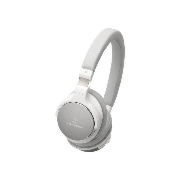 Audio-Technica ATH-SR5BT High Resolution Bluetooth NFC On-Ear Headphones in Whte
