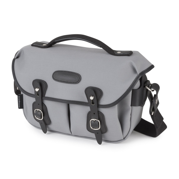 Billingham Hadley Small Pro Camera Bag in Grey Canvas & Black Leather