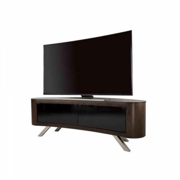 AVF FS1500: Affinity Bay Curved TV Stand in Walnut