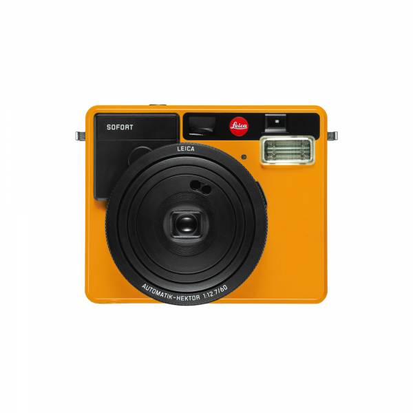 Leica SOFORT Instant Camera Orange front view