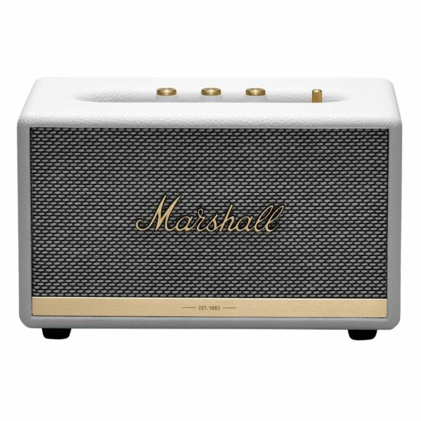 Marshall ACTON II Bluetooth Speaker in White front view