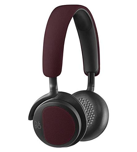 Bang & Olufsen Beoplay H2 On-Ear Silver in Deep Red