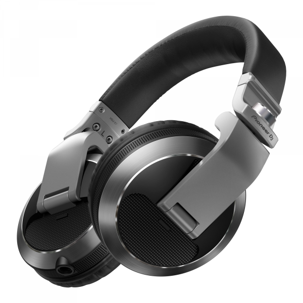 Pioneer DJ HDJ-X7 Professional Over-Ear DJ Headphones in Silver