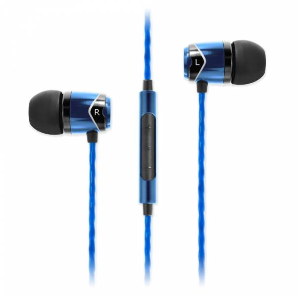 Soundmagic E10c In-Ear Headphones with Mic in Black and Blue